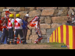 """Marquez """"crashes"""" after the #aragongp!"""