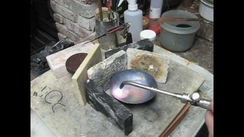 Raise a Copper Vessel 2 - Annealing, Marking the Base