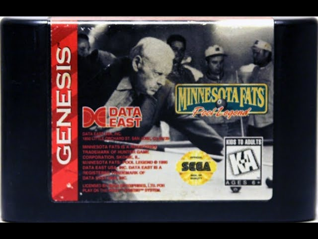 Minnesota Fats: Pool Legend (Mega Drive/ Genesis)/ half longplay/ comments