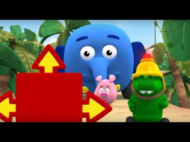 Перекресток в джунглях Все серии подряд Сезон 1 Серии 1 2 3 Мультфильм для малышей