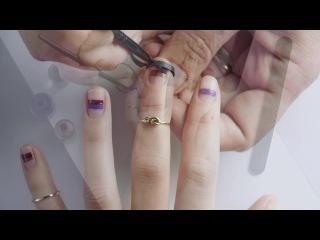 Видеоурок красоты: ногти в полоску