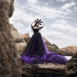 Фиолетовое фатиновое платье
