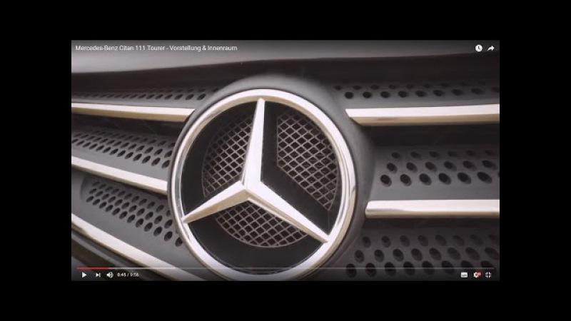 Mercedes-Benz Citan 111 Tourer - Gerede, Vorstellung Innenraum