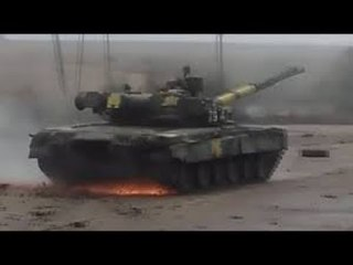 Огненный дрифт в исполнении танка Т-80