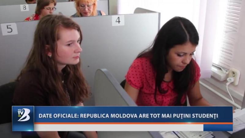 DATE OFICIALE MOLDOVA ARE TOT MAI PUŢINI STUDENŢI