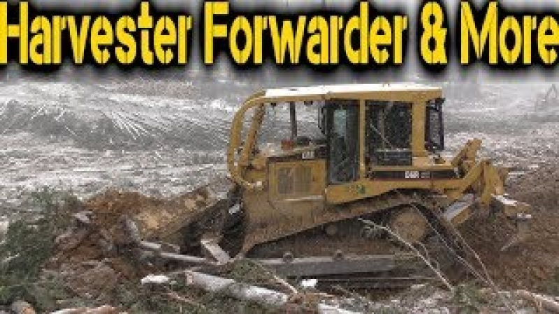 CAT D6R XW Dozer building a logging road in Canada