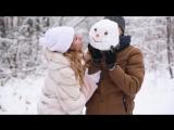 Лена Рустем Love Story в зимнем лесу