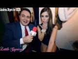 Pornstar Little Caprice gives a blowjob lesson for Andrea Diprè