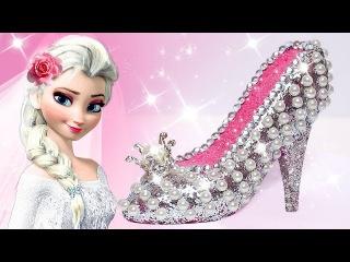 Play Doh Sparkle Barbie Disney Princess Frozen Elsa Wedding Shoes High Heels Play Doh Toys For Kids