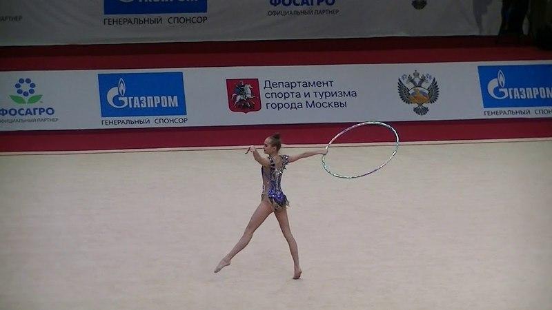 Kamenshchikova Anna (BLR) hoop Moscow YOG Qualification 2018