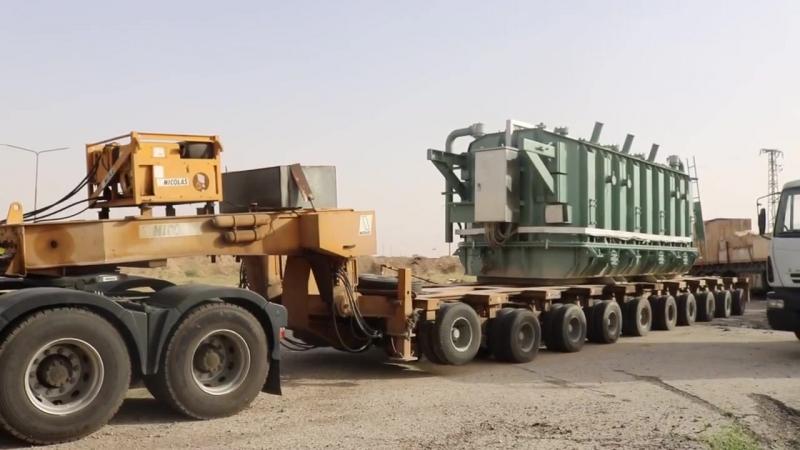 В Дейр-эз-Зор доставлен силовой трансформатор мощностью 125 МВА