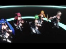 【MMD】Makes You a Fighter【TYPE2020L(black clothes) Luka Miku Gumi IA Rin 】