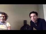 #benjaminbruce и #andybiersack  LIVE - чат с #AP на #Facebook, говорили об  #americansatan, о первой главной роли в фильме