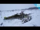 Фрагменты тел на месте крушения Ан-148