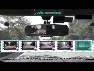 Универсальное зеркало-видеорегистратор Car dvd Mirror Full HD