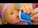 Кукла Беби Борн Маша Хочет кушать и пить Полина КАК МАМА видео для детей Baby Born Doll ...