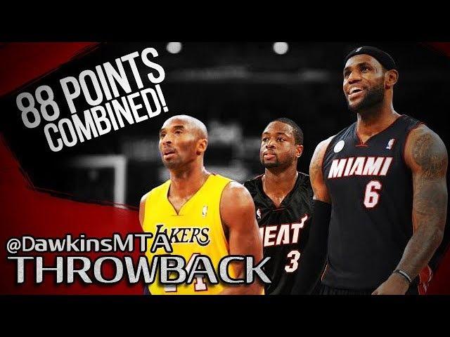 LeBron James Dwyane Wade vs Kobe Bryant LEGENDS Battle 2013.01.17 - 88 Pts Combined!