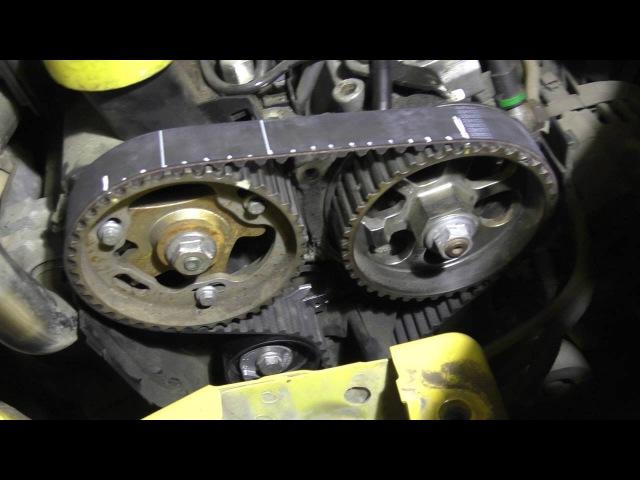 Renault Kangoo 1 5dCi Замена ремня ГРМ Двигатель Renault K9K 1 5 dci