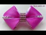 Бантики из лент How to make kanzashi hairclip DIY ribbon hair bow La