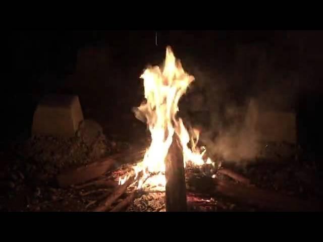 癒し系  焚き火① 炎と虫の声  自然音  Bonfire