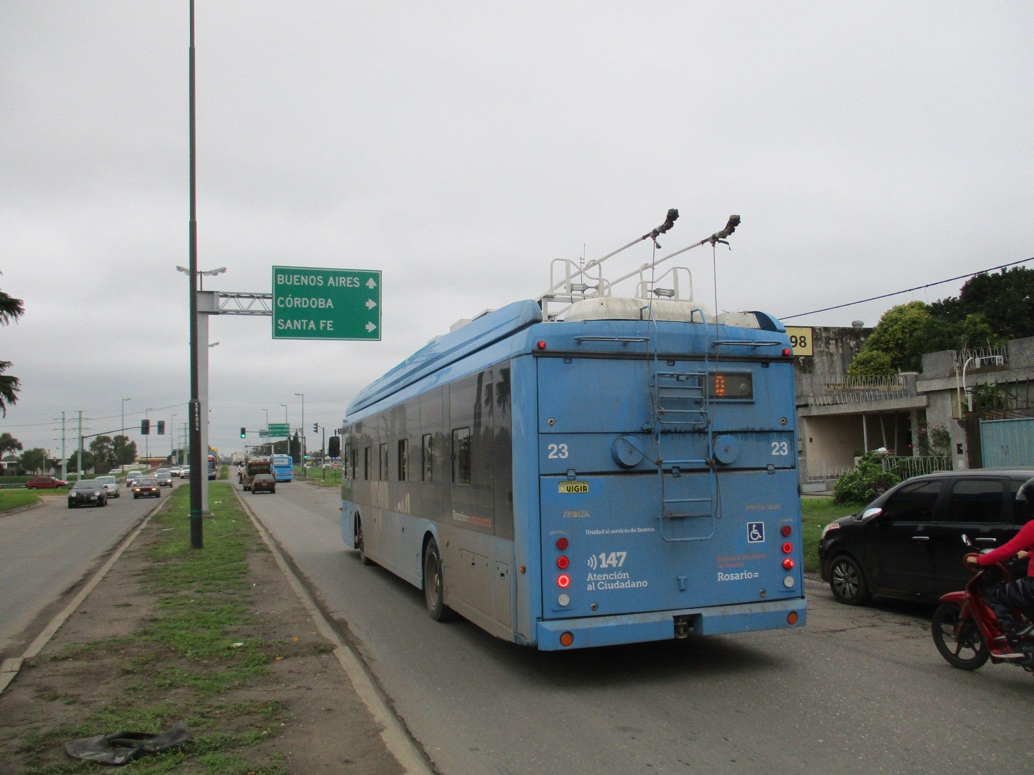 Российские троллейбусы в Аргентине. Росарио