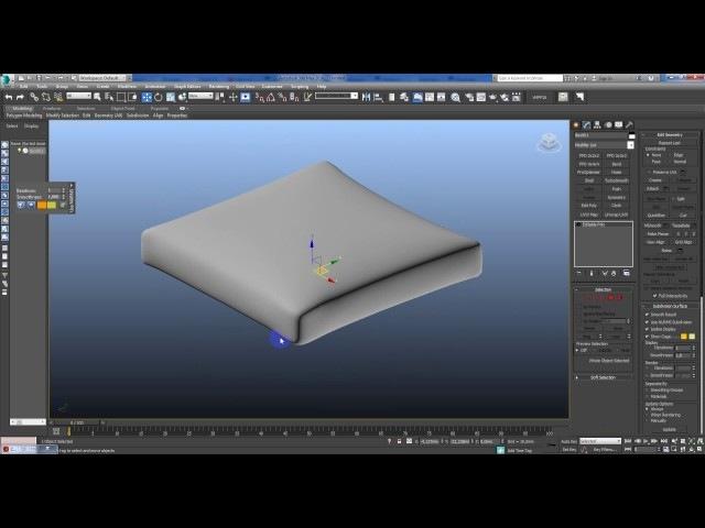 Как сделать мягкое сидение для дивана в 3dmax, используя cloth