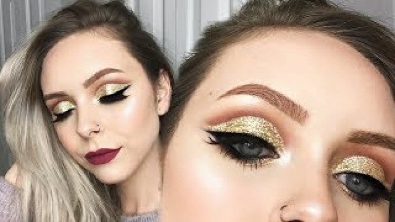 EXTRA AF GLITTER CUT CREASE NEW YEARS LOOK