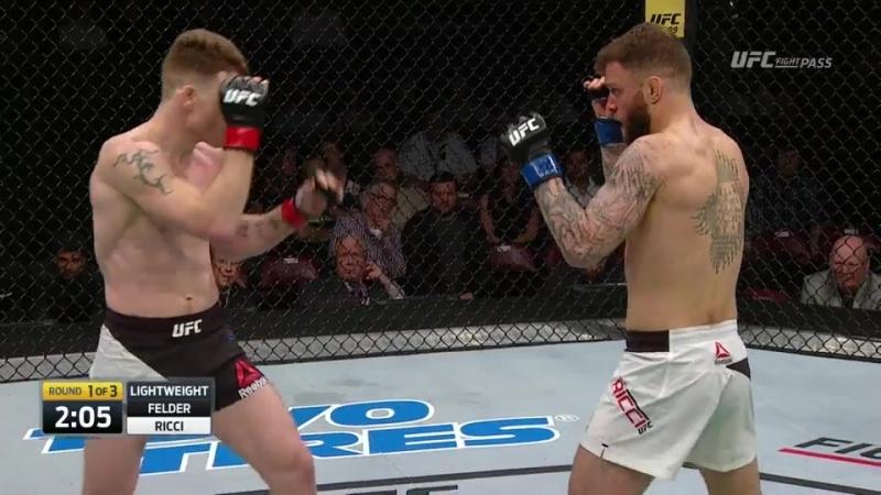 Paul Felder 12-3 Alex Ricci 10-4 UFC Fight Night 105: Lewis vs. Browne Main Card | Lightweight | 155 lbs 2017.02.19