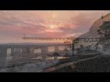 Закат дня над морем