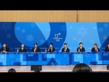 180221 EXO XIUMIN @ PyeongChang 2018 Winter Olympics   Closing Ceremony Press Conference