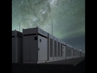 The night sky above the Tesla South Australia Powerpack Project. Happy Earth Day