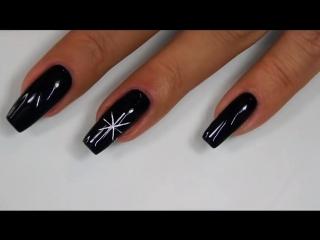 МК Снежинки   Зимние дизайны ногтей   Cuccio Veneer
