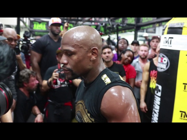 FULL UNCUT FLOYD MAYWEATHER'S MEDIA WORKOUT FOR CONOR MCGREGOR