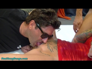 [RealGangBangs] Calisi Ink - Hot Bitch In Gangbang Party [2016]