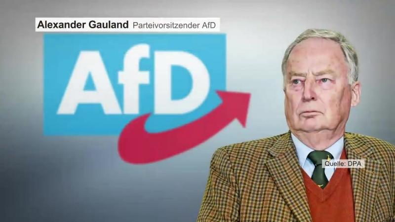 RECHTSPOPULISTISCHE ÄUSSERUNG AfD Chef Gauland erntet scharfe Kritik mit Aussagen zur Nazi Zeit