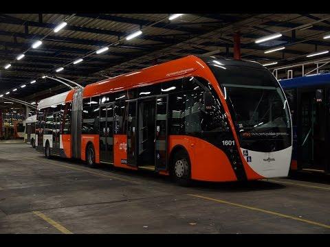 Vid o sp ciale sur les VanHool Exquicity tpg Trolleybus Lausanne