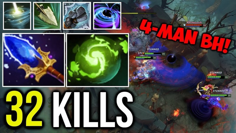 EPIC Crazy Fast Hand 4 Man Black Hole Refresher Rubick Maniac by Afromoush Dota2