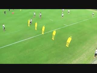 Футбольные упражнения для атаки проникновения через защиту