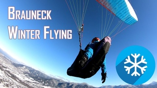 Winter Paragliding at Brauneck