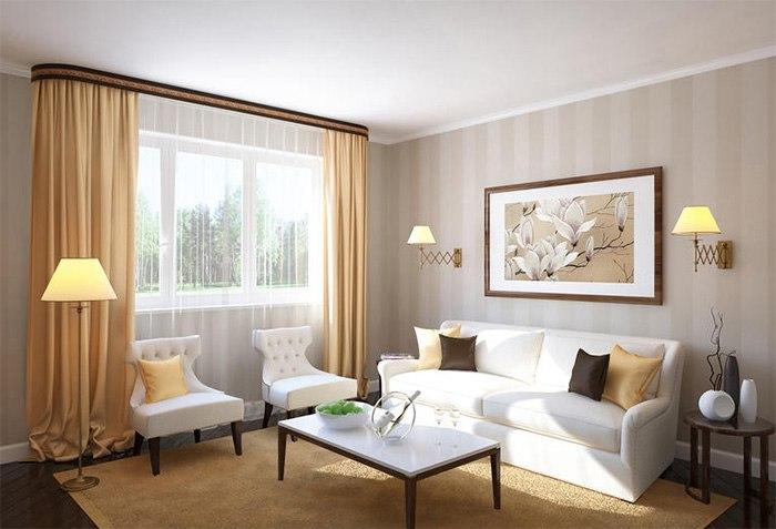 Потолочные шторы в зал — советы и рекомендации по выбору, изображение №7
