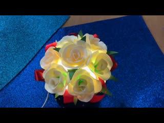 Цветы из изолона в шляпной коробке | Бесплатный мк