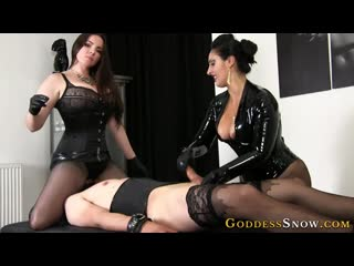 "Goddess alexandra snow: ""edging to ruin""(orgasm denial,slave,femdom,latex,bdsm)"