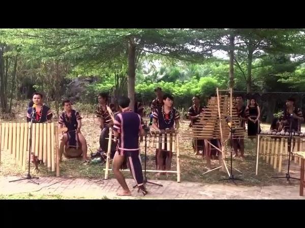 Biểu diễn nhạc cụ đồng bào Tây Nguyên
