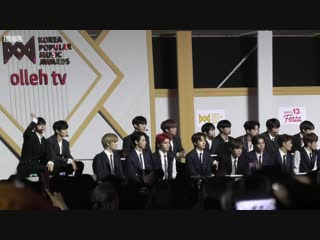 fancam 181220 NCT 127 Reaction to Red Velvet @ KPMA 2018