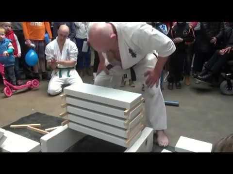 Tameshiwari demonstration Kyokushin karate EVERY WEEK ANOTHER TRANSLATION this month German