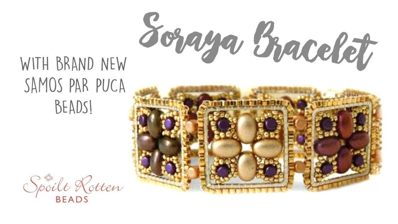Soraya Bracelet Tutorial with Les Perles Par Puca Beading Tutorial