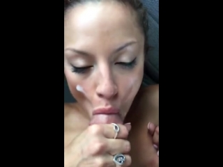 Cumming on my friends face, in a car after club night