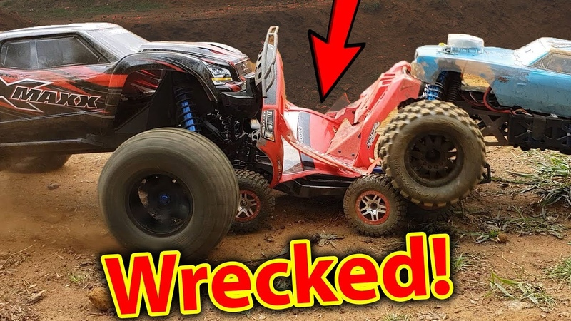 RC Car FULL ON Demolition Derby - Traxxas X-Maxx HPI Savage Kills Slash 4x4