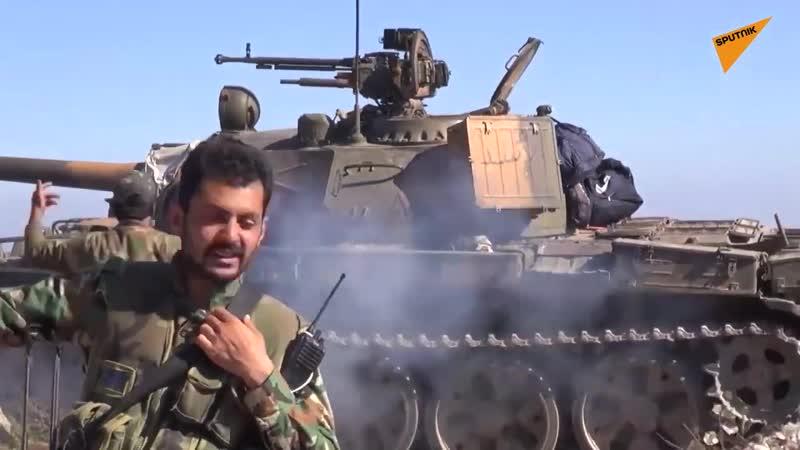 В сети появилось видео боев правительственных сил против боевиков в провинции Латакия Помощь ВС САР оказывает российский ударны