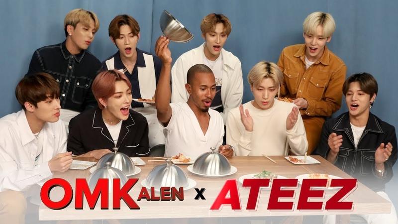 'OMKalen' Kalen's Kultural Mukbang with K Pop Group ATEEZ